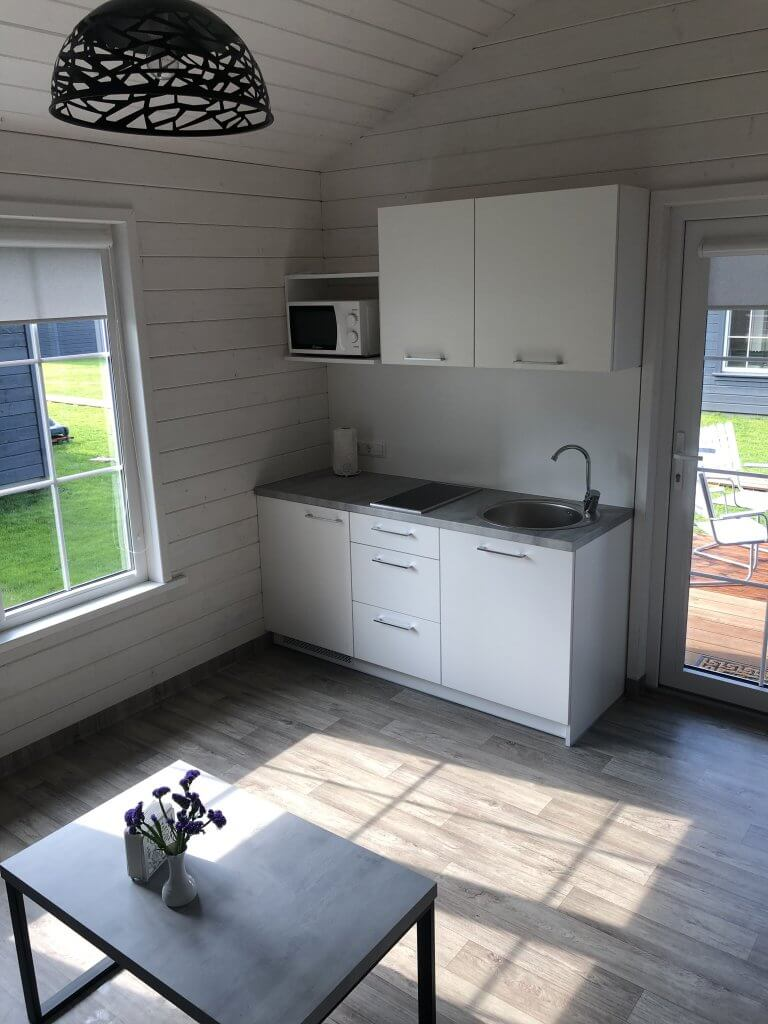 Virtuvės zona svetainėje