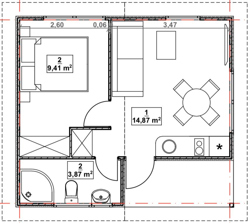 namelių išplanavimas